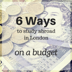 Study Abroad in London Budget Worksheet