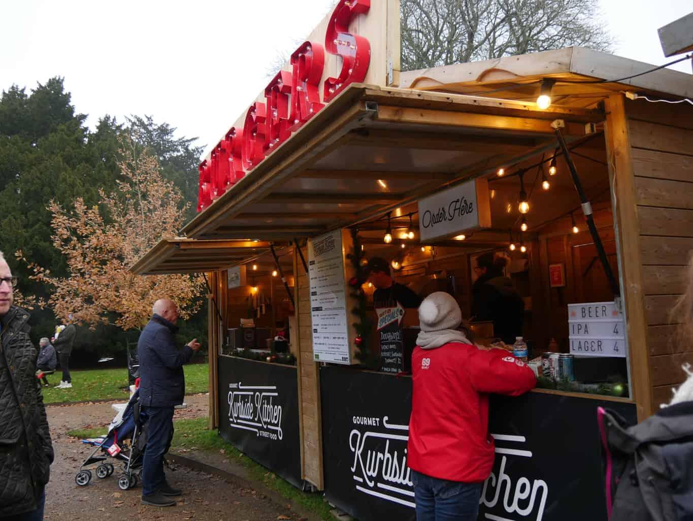 A food stall at the Christmas market at Waddesdon Manor