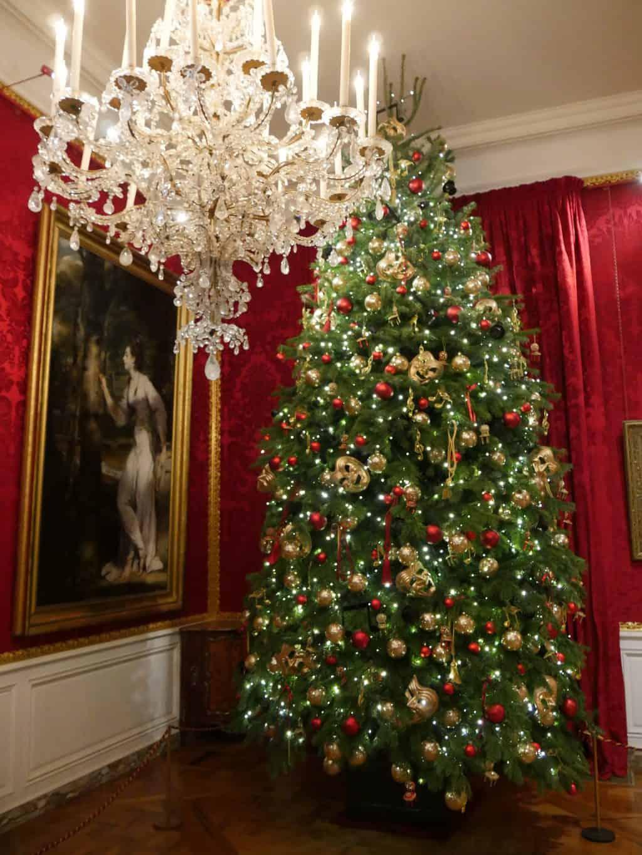 A Christmas tree inside Waddesdon Manor