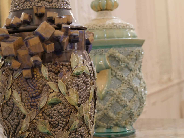 Decorative vases inside Waddesdon Manor