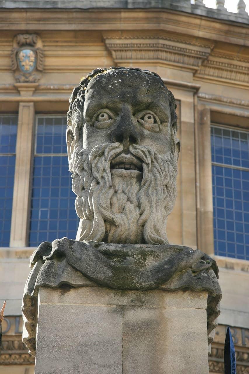 Statue of head in Oxford