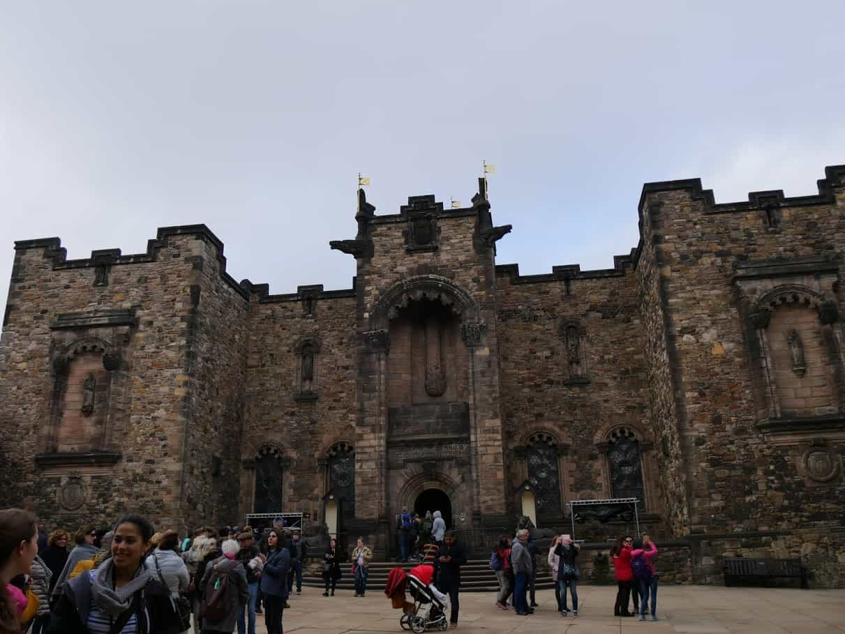 The keep at Edinburgh Castle