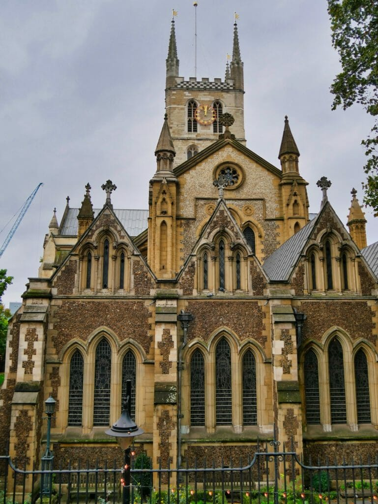 The exterior of Southwark Cathedral London