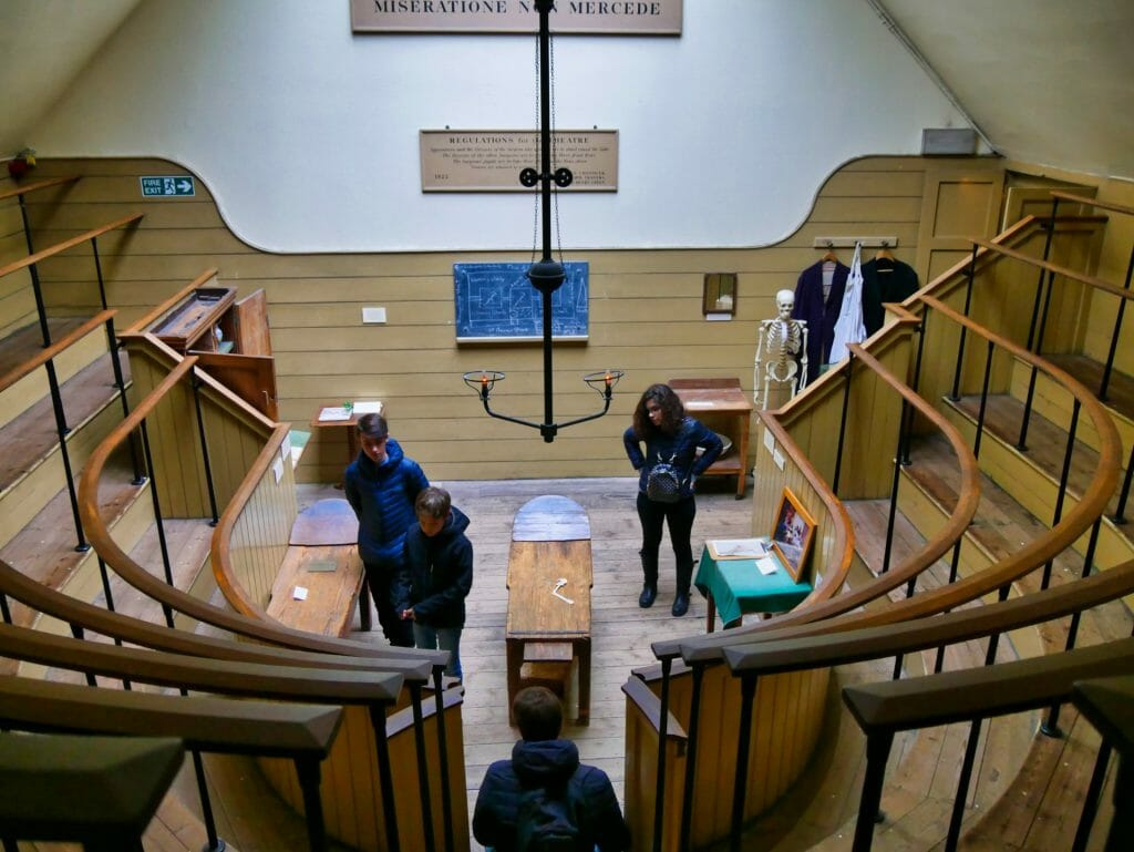 A reconstructed operating theatre at The Old Operating Theatre in London Bridge