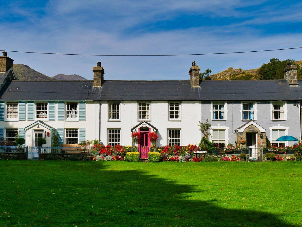 A row of houses in Beddgelert, Wales