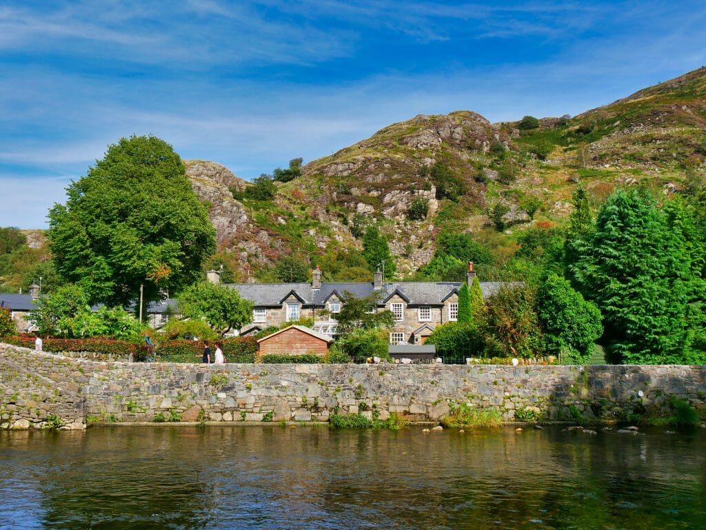 House next to a river in Beddgelert, Wales