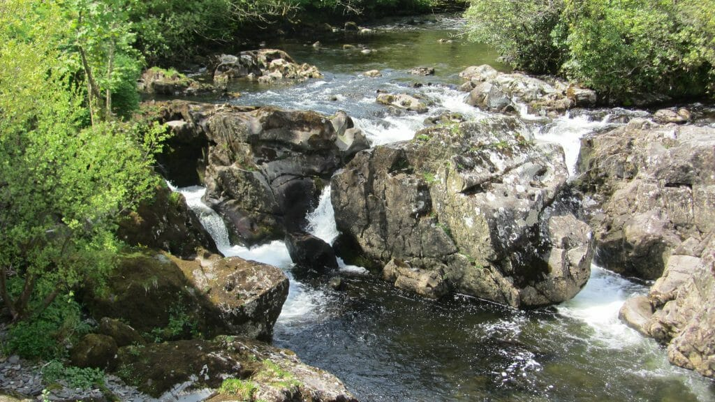 River flowing over rocks in Betws-y-Coed North Wales