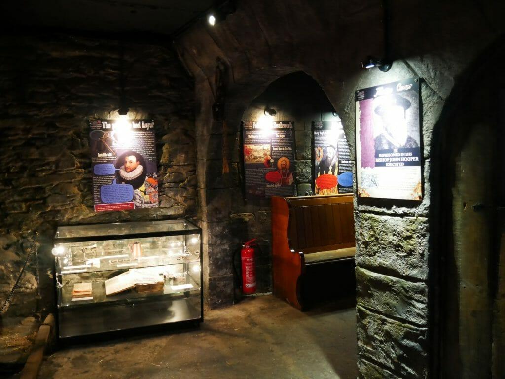 Clink Prison Museum displays