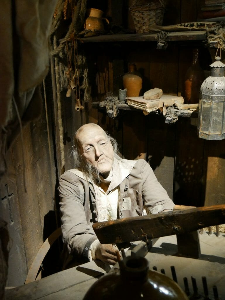 Clink Prison Museum model of man at desk