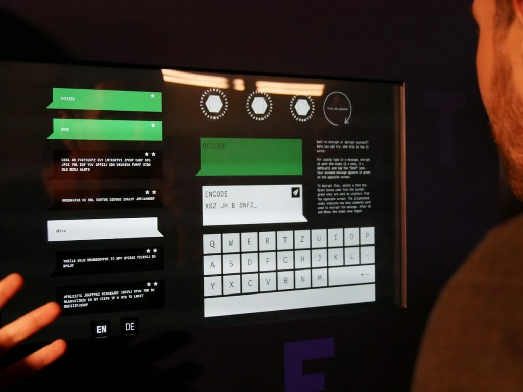 A code game at the German Spy Museum, Berlin
