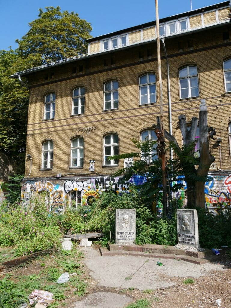 A memorial see on the Berlin secret food tour