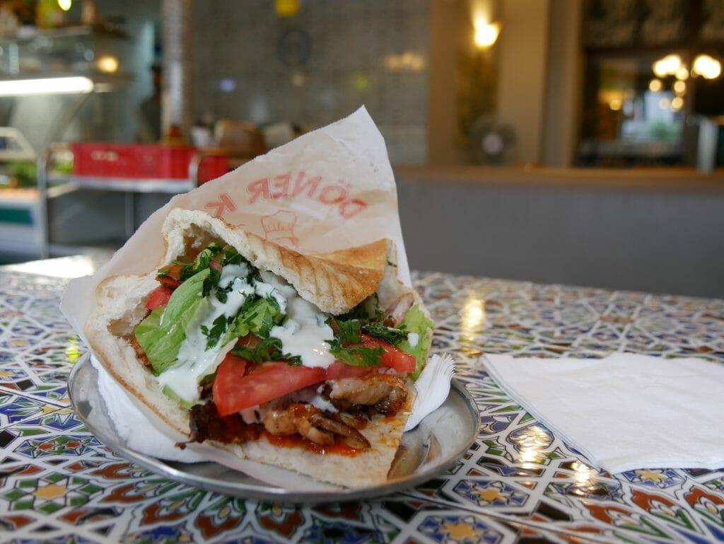 A Shawarma meal on a dish