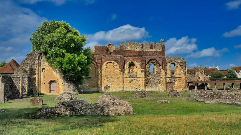St. Augustine's Abbey Canterbury with blue sky