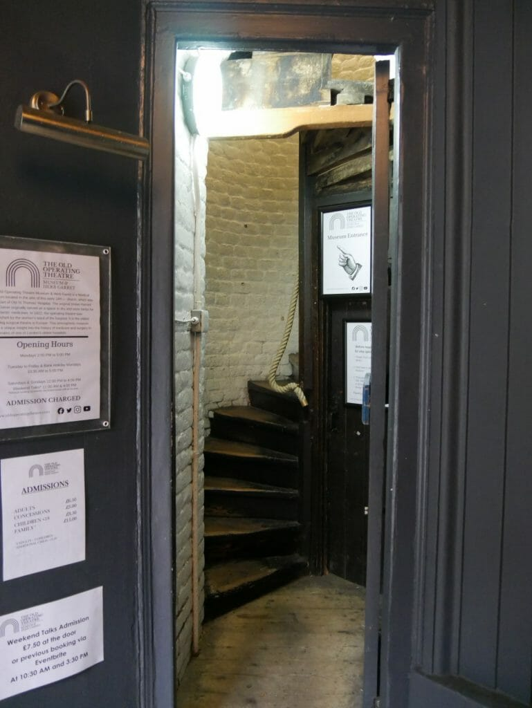 Old Operating Theatre staircase