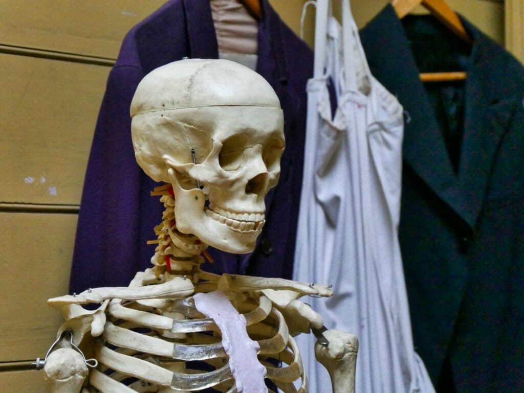 Skeleton at The Old Operating Theatre