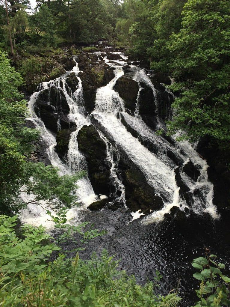 Waterfall in Gwydir Forest Park
