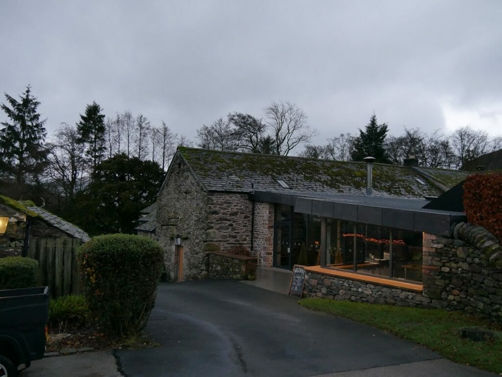 The shop at The Quiet Site in the Lake District - made of stone and modernised.