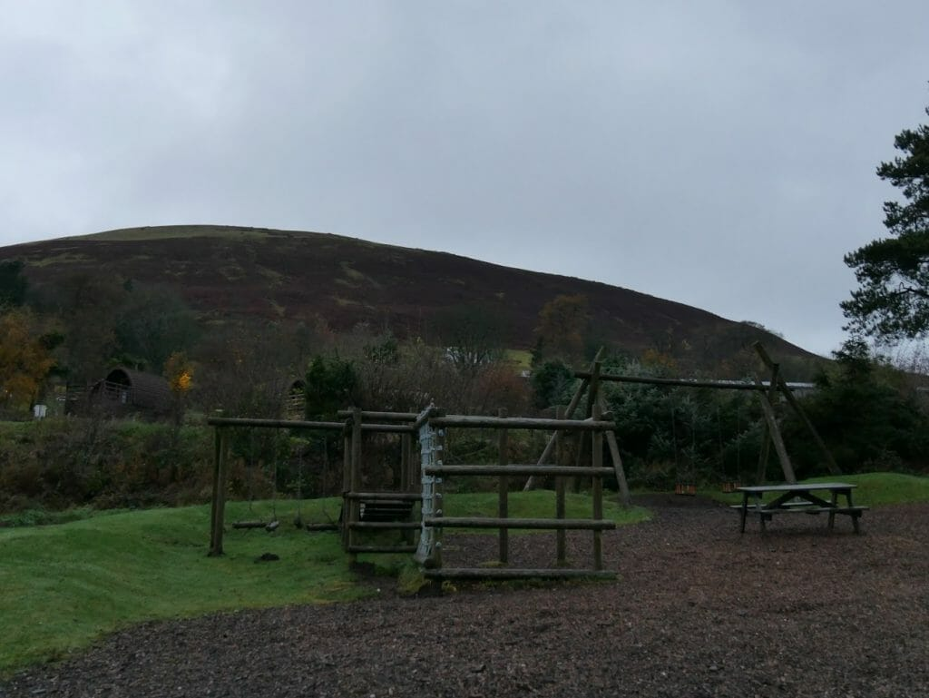 A playground at The Quiet Site
