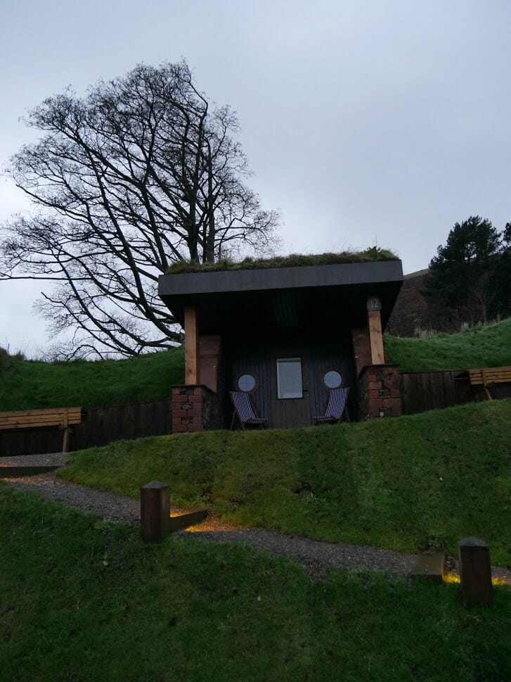 The outside of a hobbit hole at The Quiet Site Ullswater