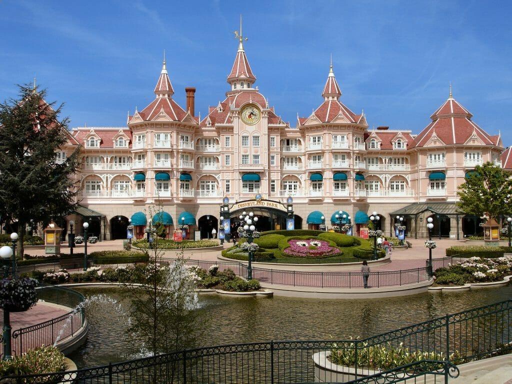 Disneyland Hotel with blue sky