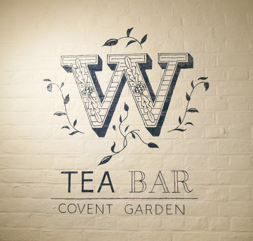 Whittards Covent Garden logo on wall