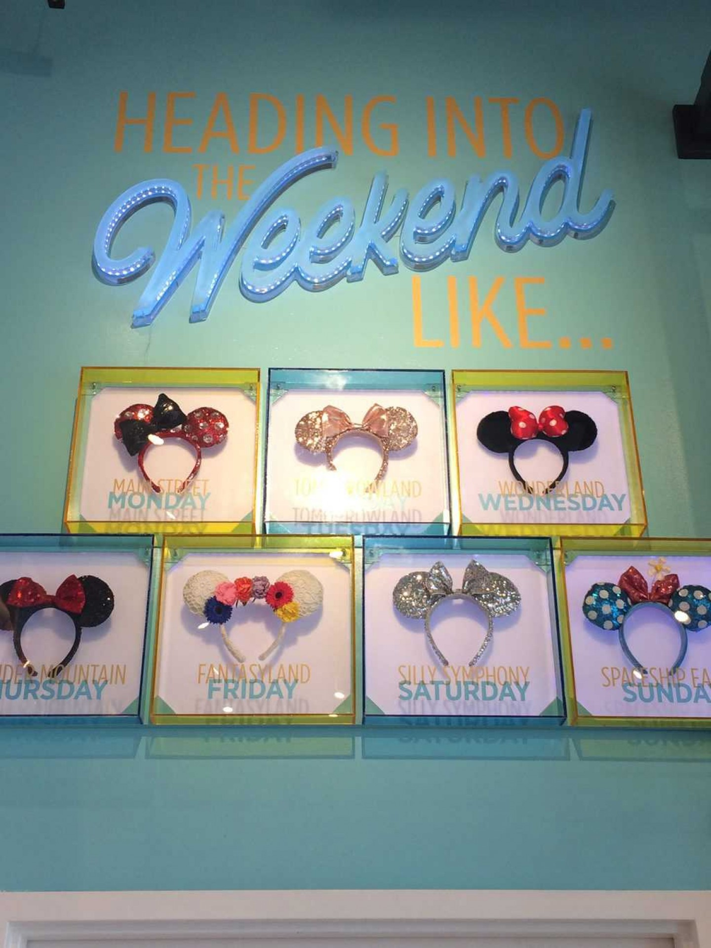 Disney World Mickey Ears Wall