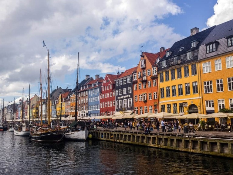 Colorful Nyhavn Harbor