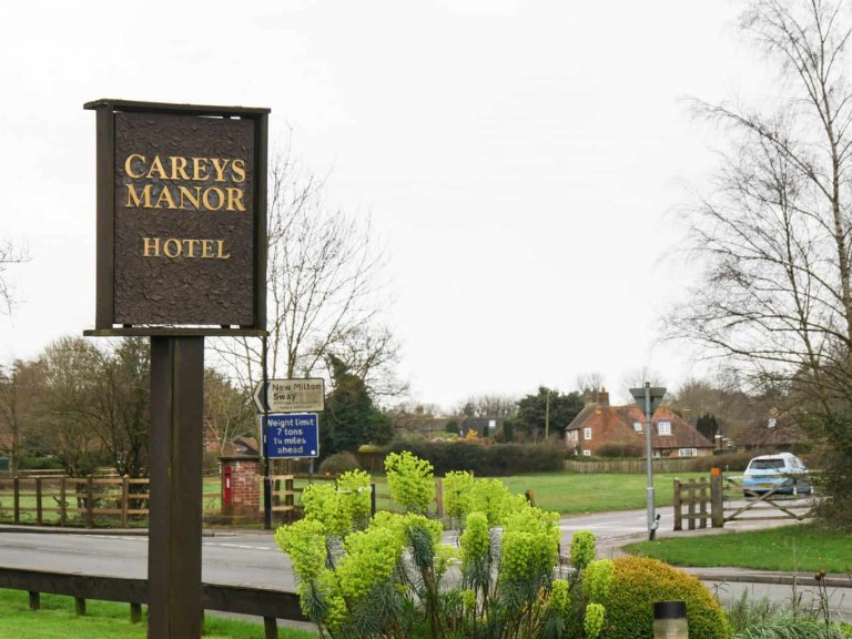 Careys Manor Sign