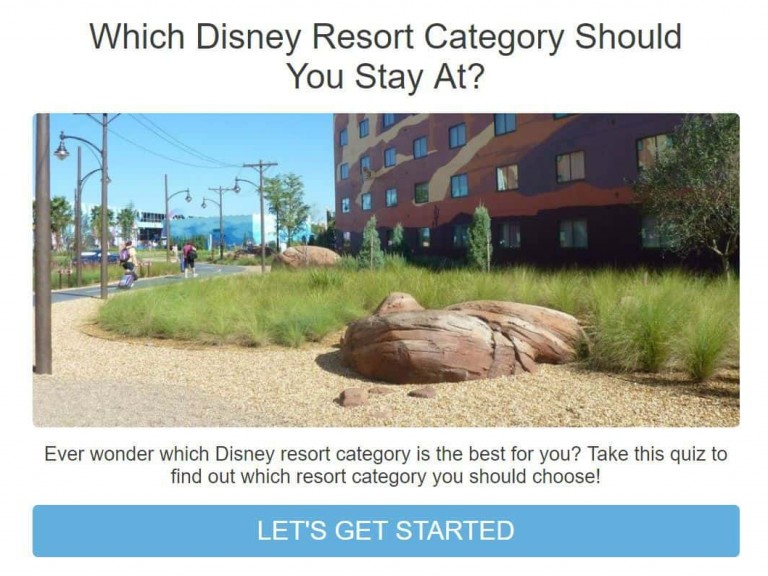Disney Resort quiz